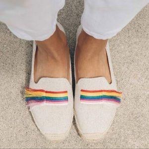 Soludos Rainbow Slipper Espadrilles size 8.5 NEW